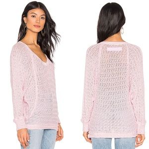 NWT Free People Thiens Hacci knit top in Pink